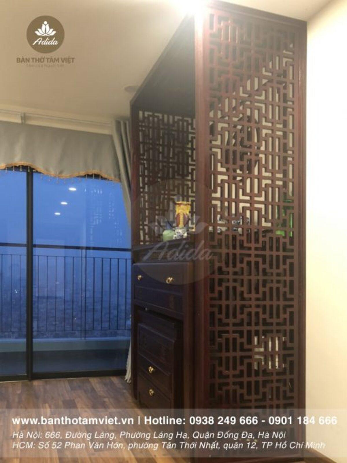 Tủ thờ phòng khách chung cư