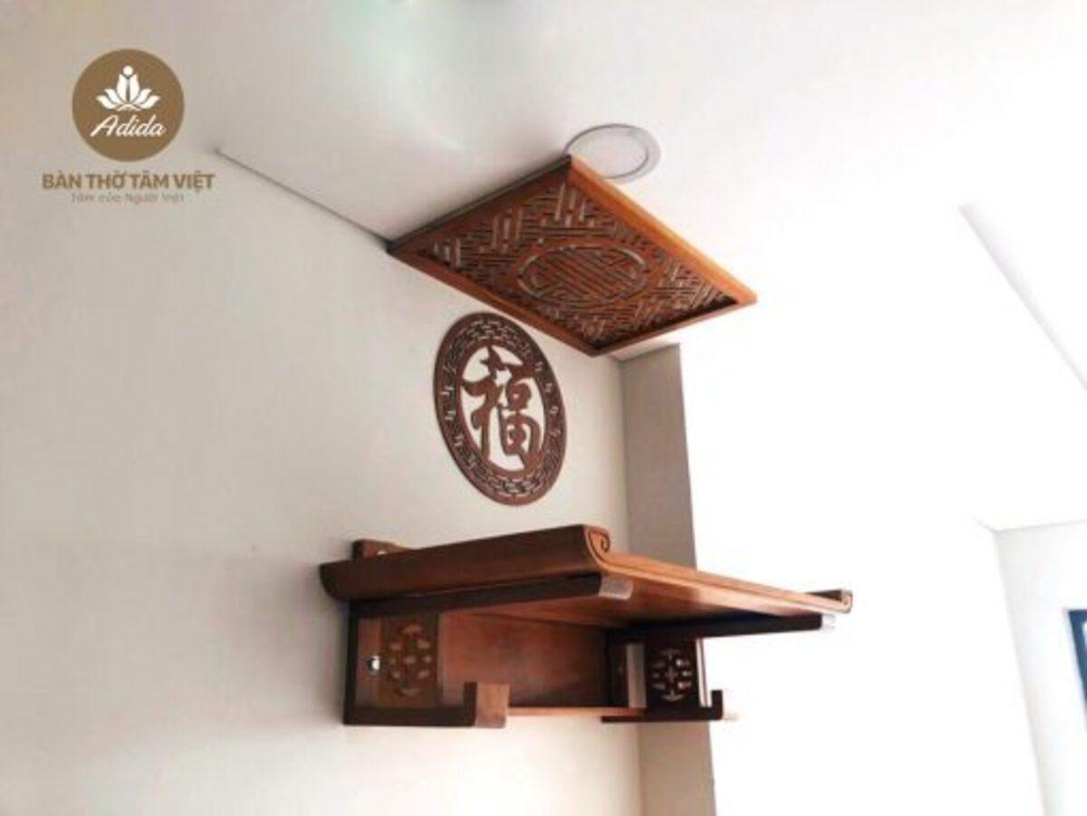 Mẫu bàn thờ treo tường gia tiên