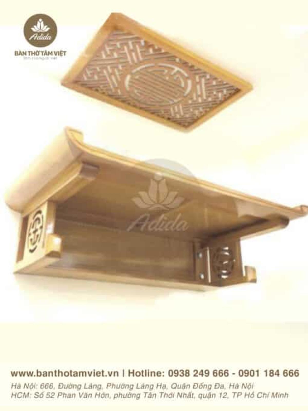 Mẫu bàn thờ treo tường gia tiên gỗ hương đẹp
