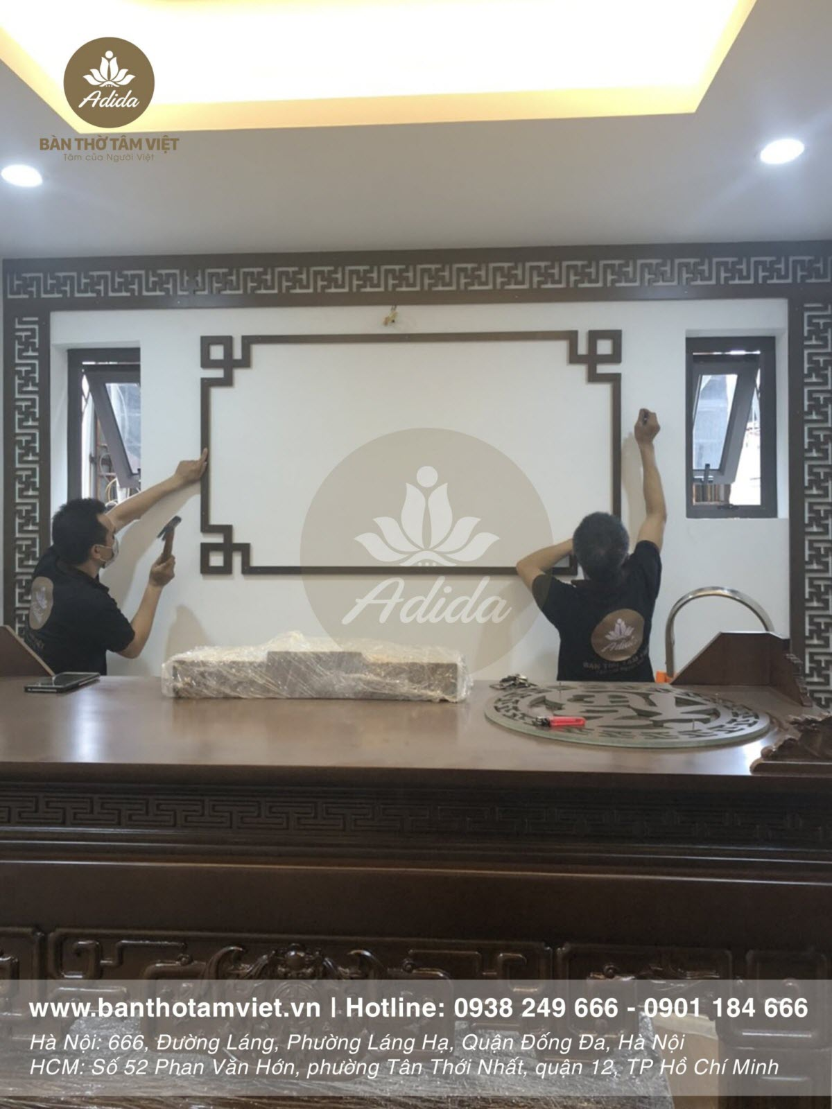 Mẫu bàn thờ đứng dành cho chung cư thờ tổ tiên