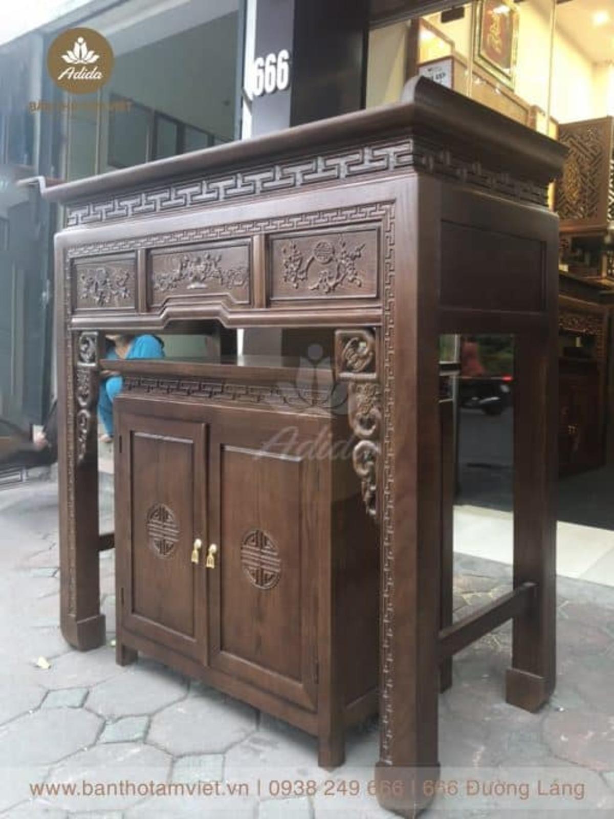 Tủ thờ gỗ mít gia tiên