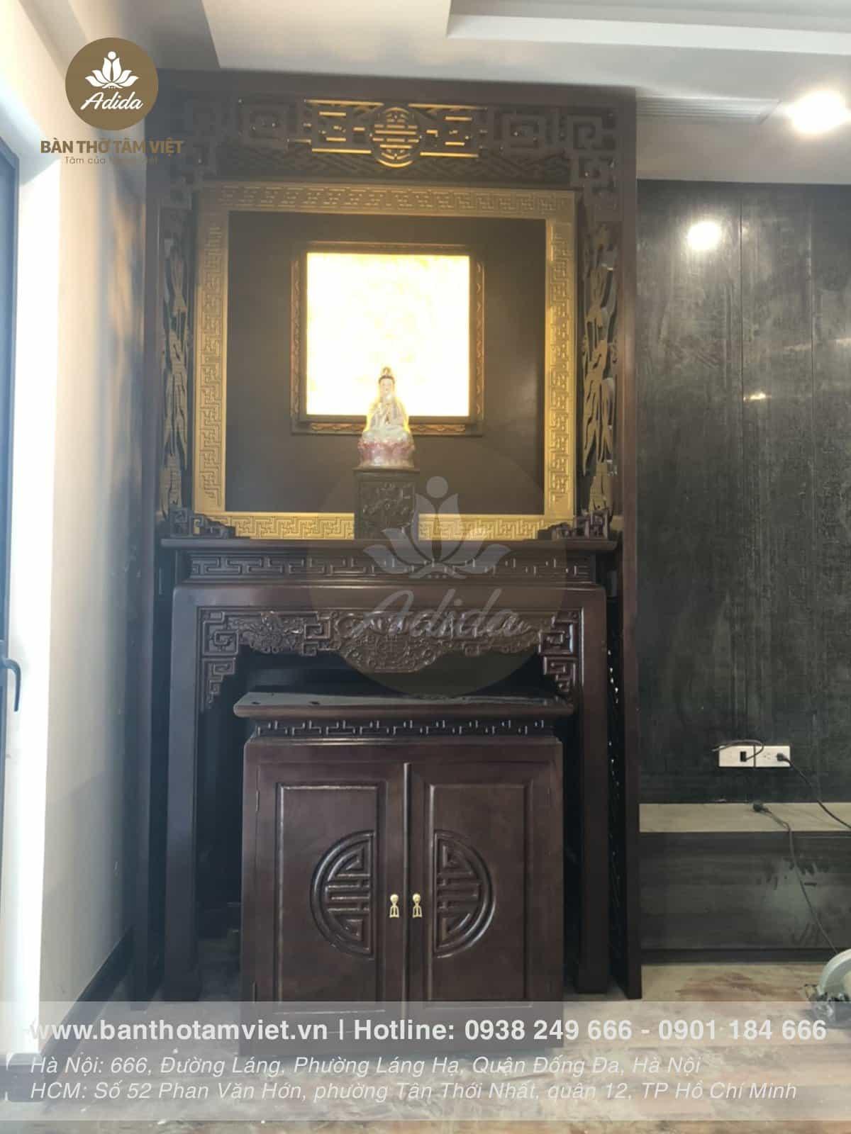 Mẫu bàn thờ đứng thờ phật cho nhà chung cư
