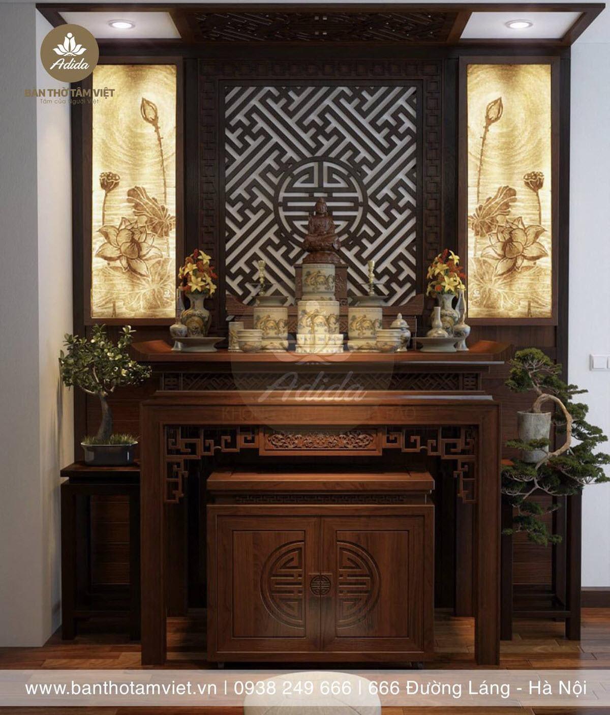 mẫu bàn thờ đứng đẹp hiện đại giá rẻ